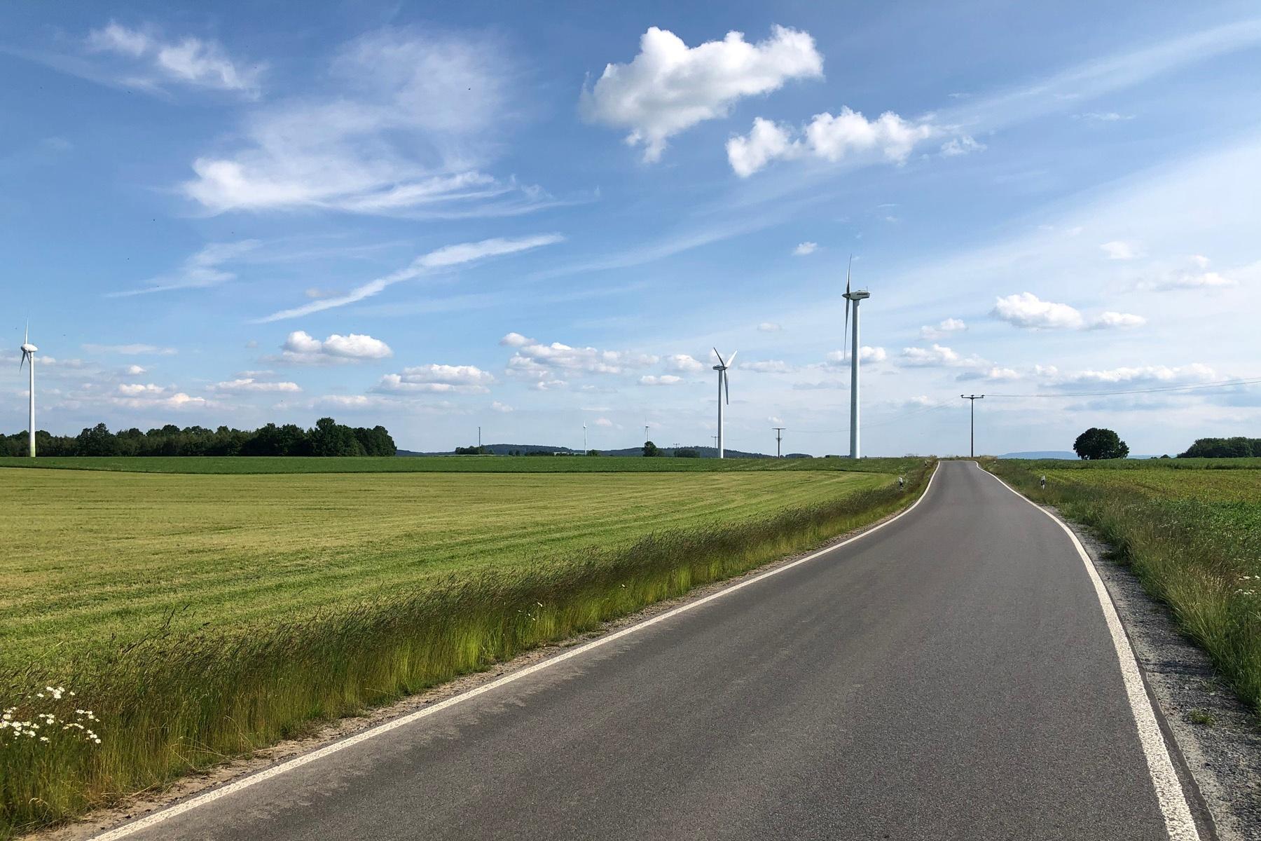 Straße von Lauterbach nach Langenwolmsdorf