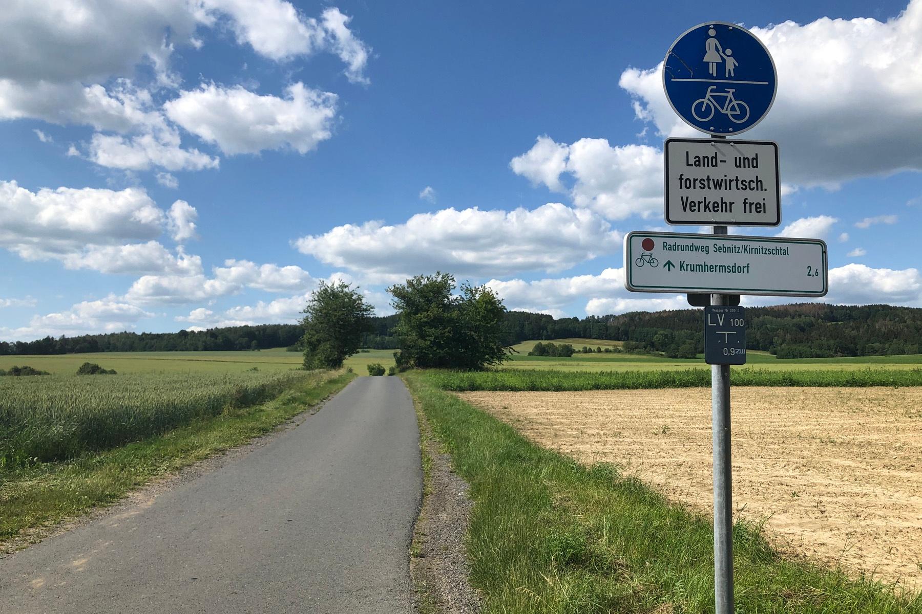 Wegmarkierung Radrundweg