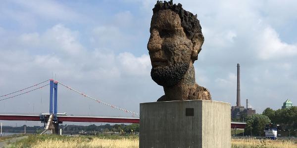 »Poseidon« auf der Mercatorinsel, Duisburg