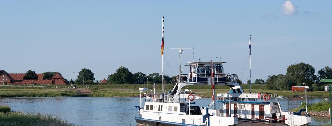 Fähre Tanja im Hafen von Neu Darchau