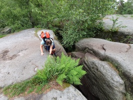 Foto Abstieg vom Plateau im Labyrinth