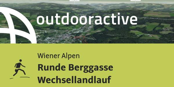 Trailrunning-Strecke in den Wiener Alpen: Runde Berggasse Wechsellandlauf