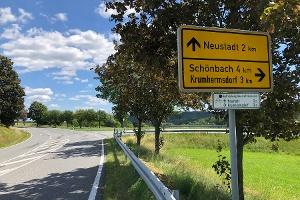 Foto Abzweig nach Krumhermsdorf