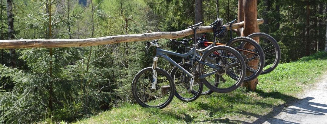 Fahrradparkplatz am Greifensteinstolln
