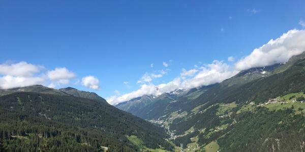 Blick von Bergstation Seilbahn See-Medrigalm