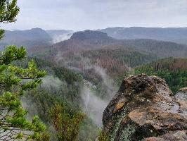 Foto Aussicht von der Großsteinkanzel in den Kleinen Zschand