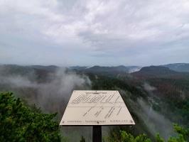 Foto Die Aussichtsstelle an der Großsteinkanzel
