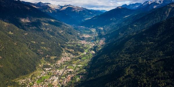 Val Rendena e Caderzone Terme, vista aerea