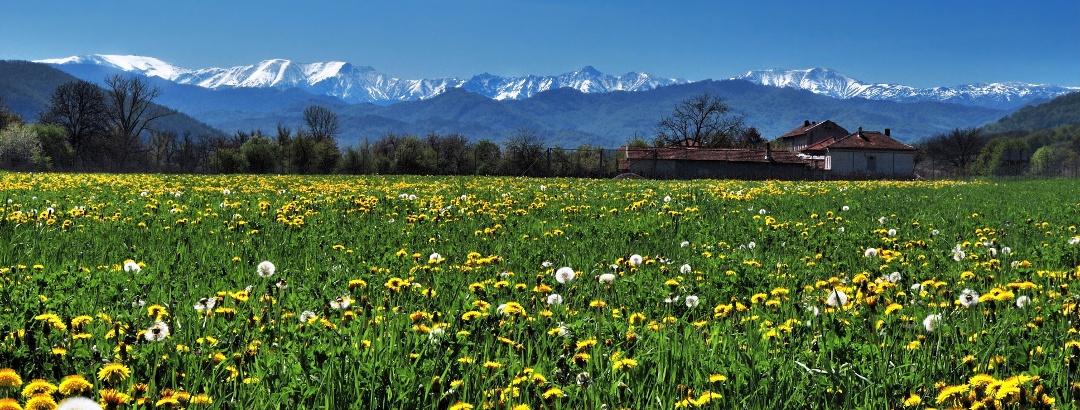 Blick auf das Balkangebirge