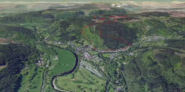 hike in Conwy: Llyn Elsi round route
