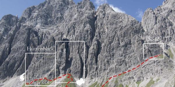 Klettergärten Schneekarle Süd Übersicht