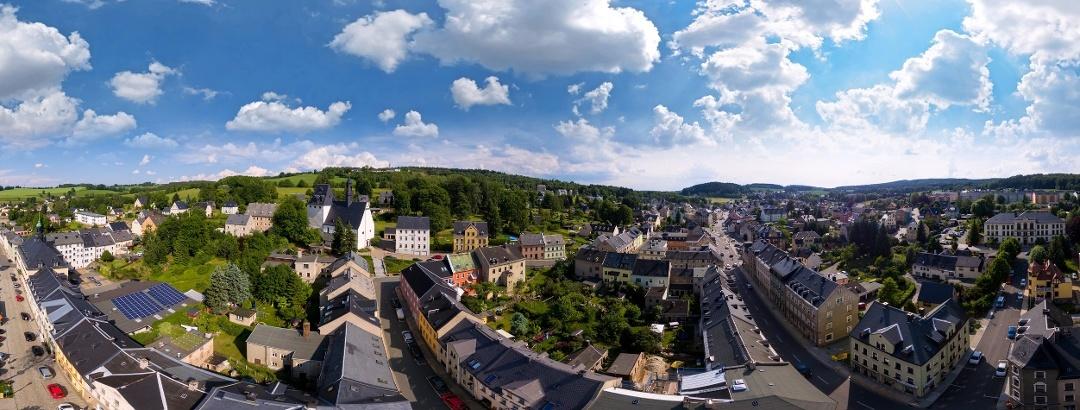 Blick auf die Stadt Ehrenfriedersdorf