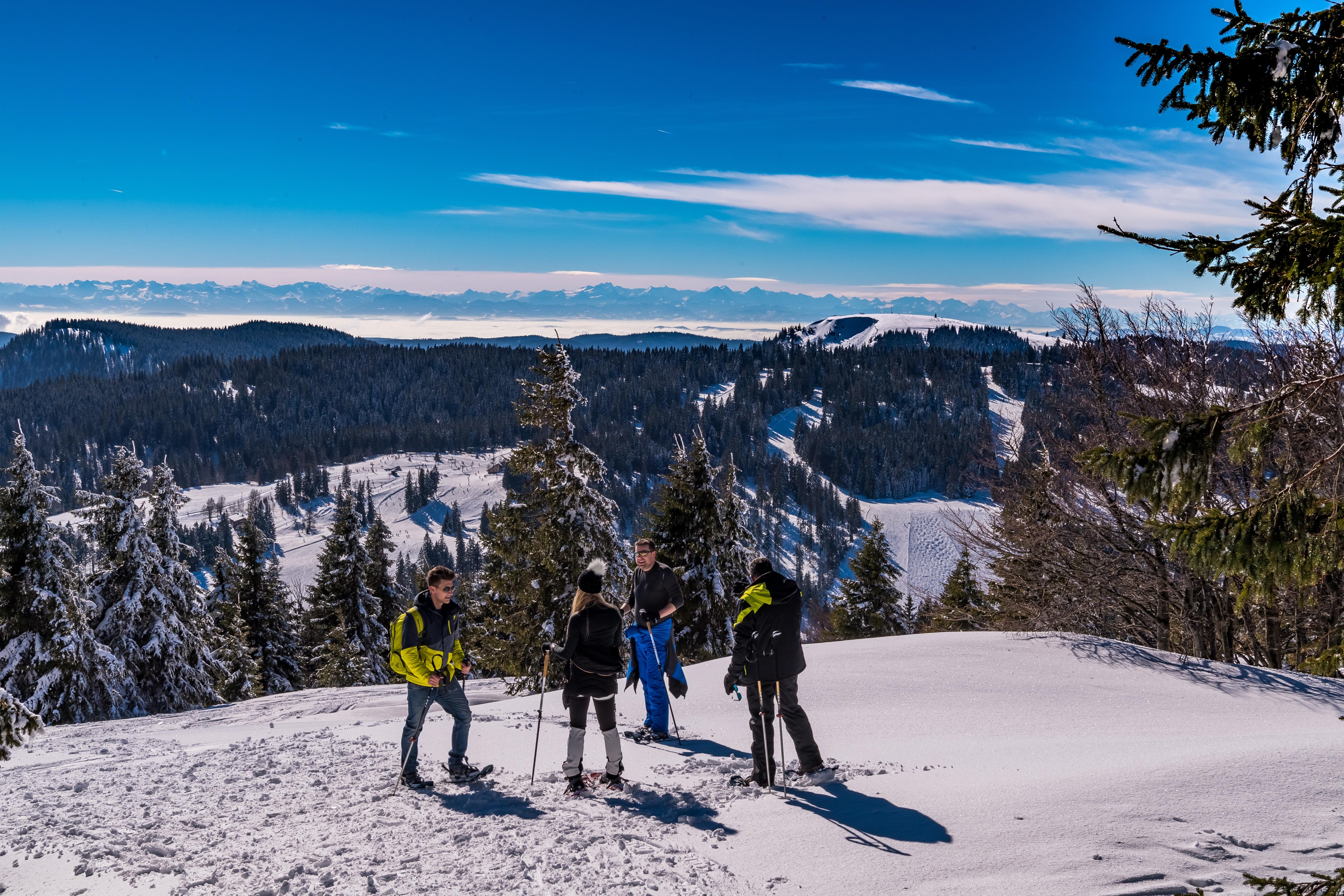 Schneeschuhwandern auf dem Feldberg
