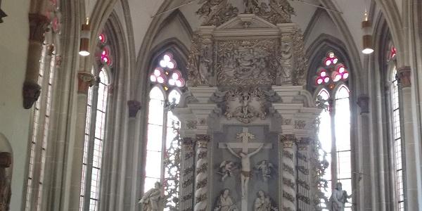 Klosterwanderweg - St. Bartholomäuskirche Innenansicht