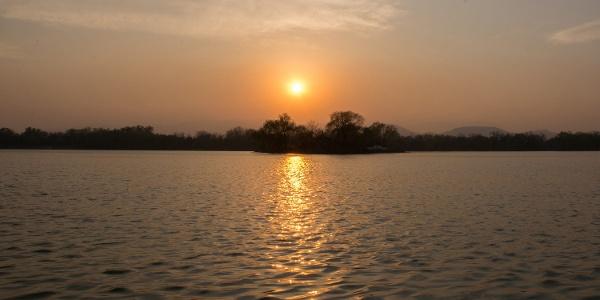 圆明园中的日落