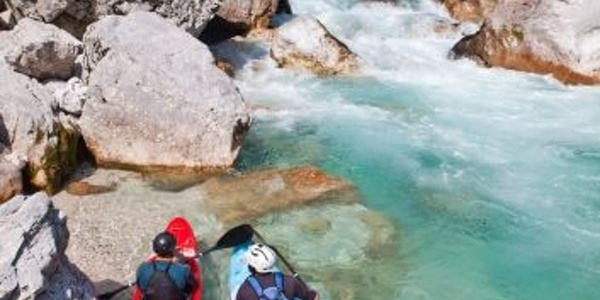 Kayaking or rafting on Soča river
