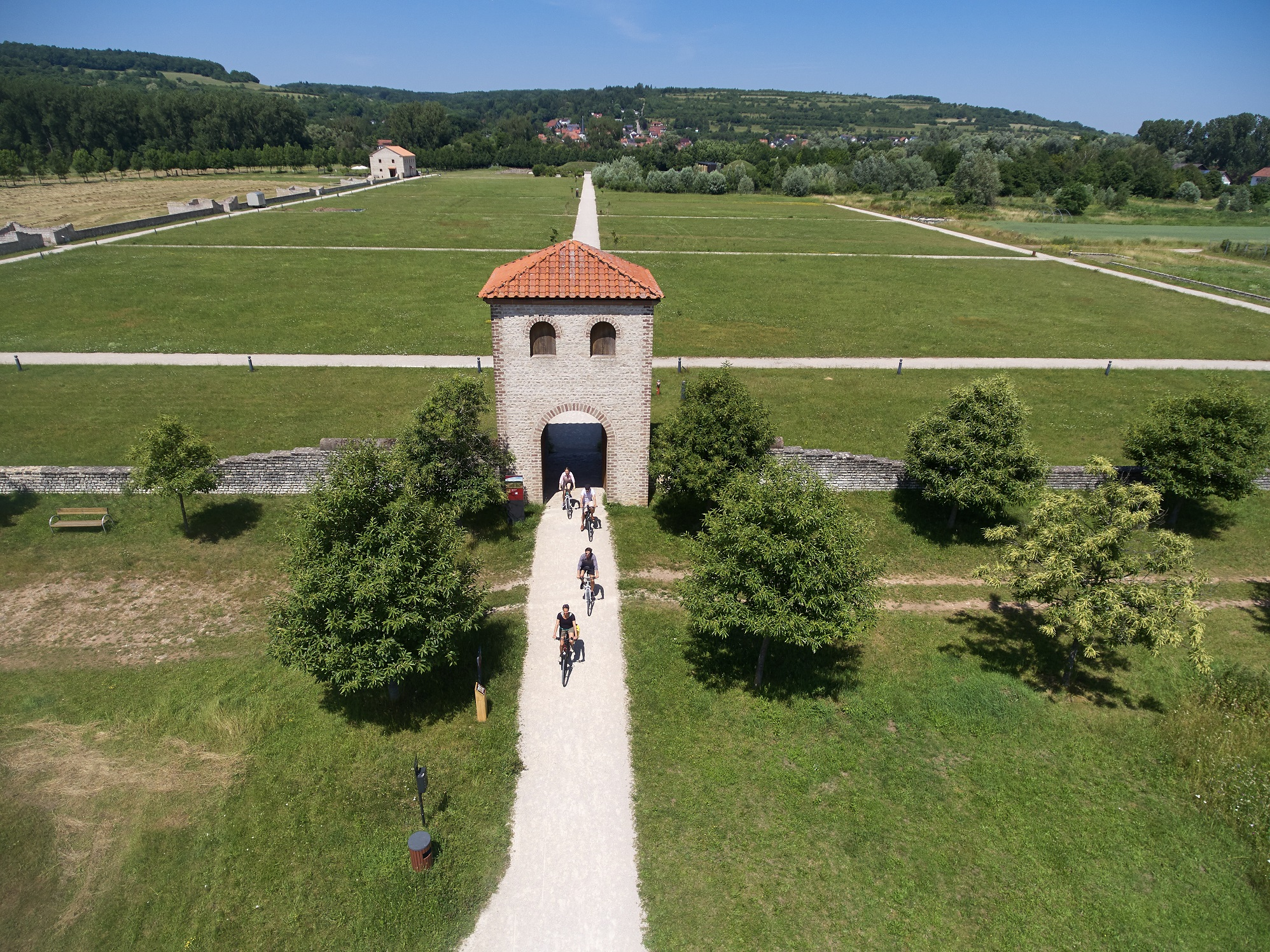 Fahrradfahrer im Europäischen Kulturpark