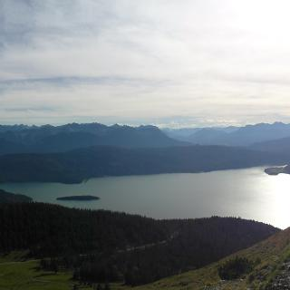 Panorama über den Walchensee