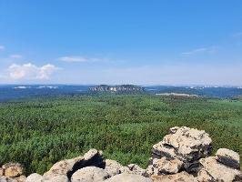 Foto Wunderbare Aussicht vom Gohrisch zum Pfaffenstein