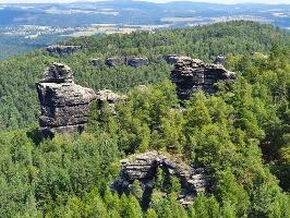 Foto Blick vom Papststein zu den Felsen Hunskirchen
