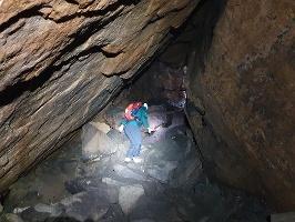 Foto In der Bennohöhle