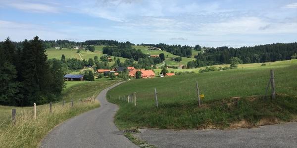 Weg von Scheidegg nach Bieslings