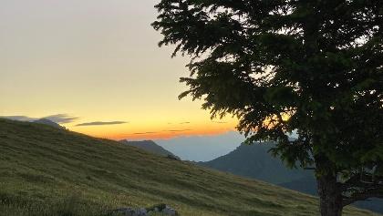 Sonnenaufgang auf dem Weg zum Schönberg
