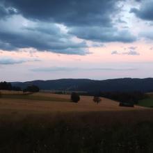 Abendblick von der Kreuztanne