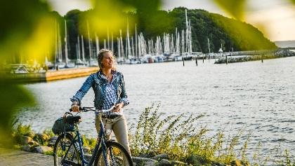 Radfahren an der Ostsee in Glücksburg