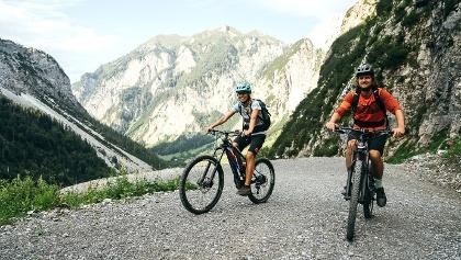 Mountainbikestrecke zum Wolayersee