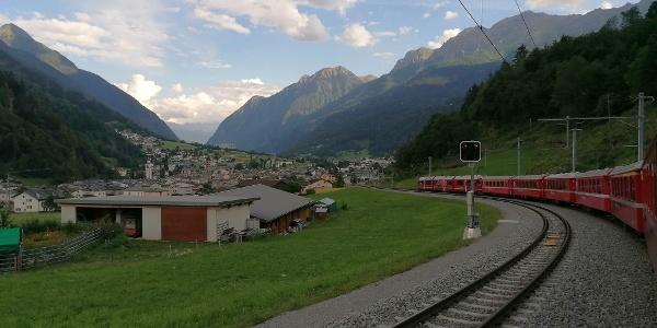 Arrival in Poschiavo