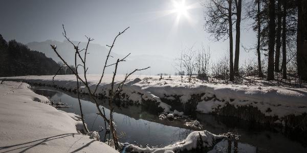Niederndorf Winter Schnee Winterwandern