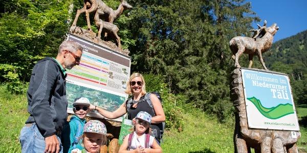 Start zum Skulpturenweg Niederurnertäli
