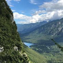 Blick auf Bohinj jezero nach knapp 200hm