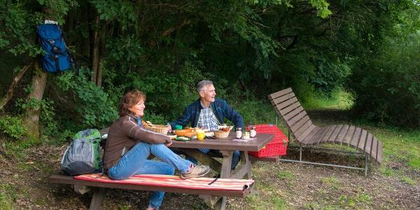 Picknick in der Premium-Wanderrregion