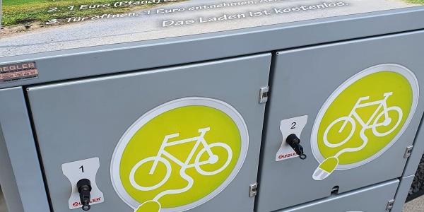 E-Bike Ladestation an der Sommerrodelbahn Altenberg