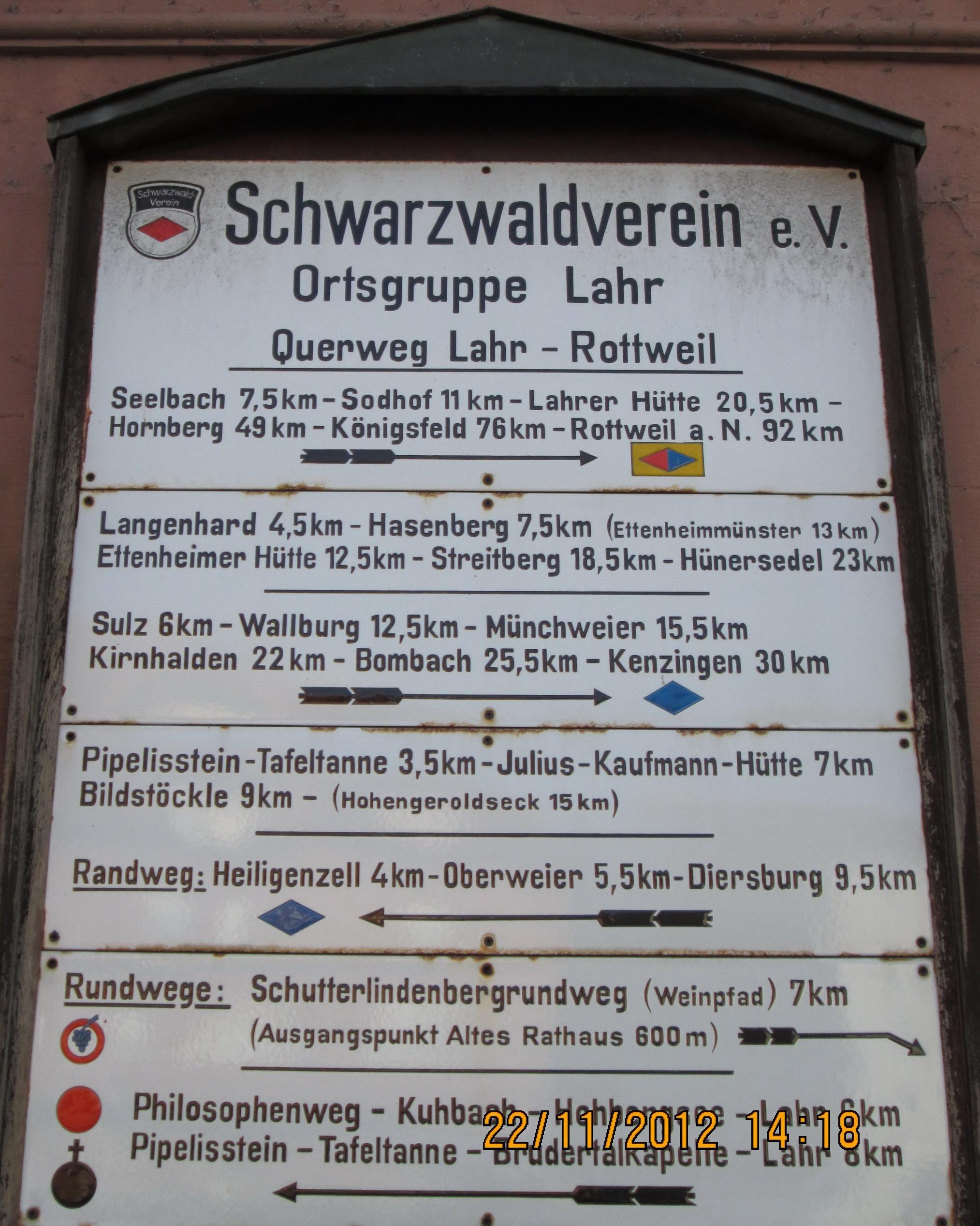 Start beim Busbahnhof Lahr-Schlüssel