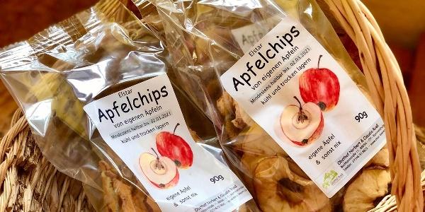 Apfelchips  vom Obsthof Rueß in Rammetshofen