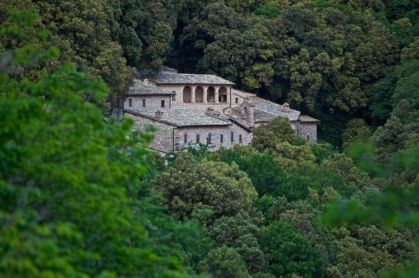 The monastery Eremo delle Carceri, Assisi