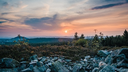 Sonnenuntergang auf dem Kahleberg