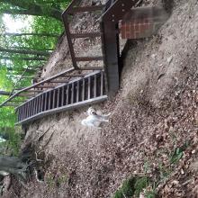 Treppe um Höhenmeter zu gewinnen 😀