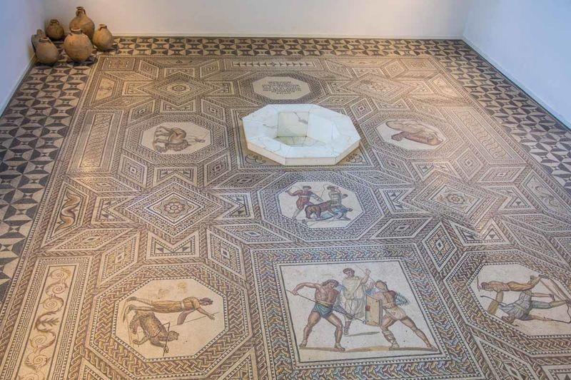 Foto: Ansicht Römisches Mosaik Nennig