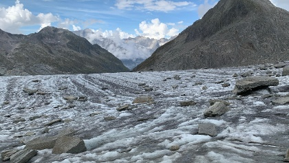 The glacier just before the hit