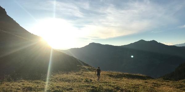 Trailrunning oberhalb der Alp Sanaspans