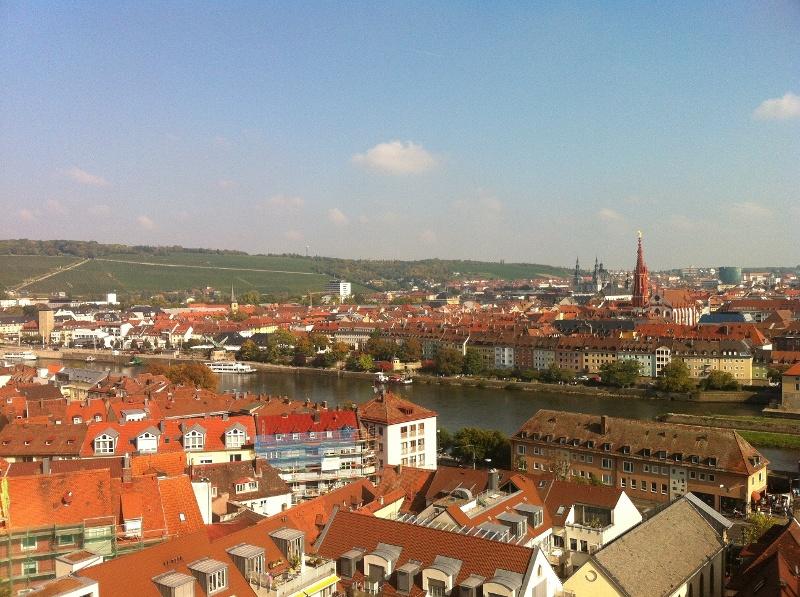 Ausblick auf die Würzburger Altstadt von der Festung aus