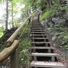 Treppe von Bas Pfäfers in Richtung Pfäfers