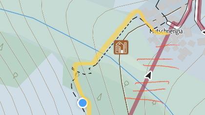 Korrigierte Route