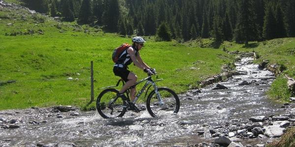 Bachübergang auf der Alp ober Precht