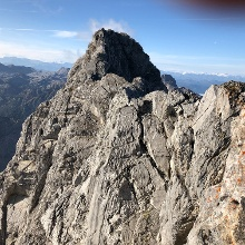 Blick zur Mittelspitze