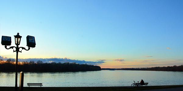 Danube River promenade of Apatin